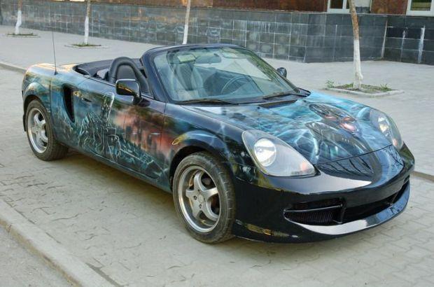 Необычная раскраска автомобилей