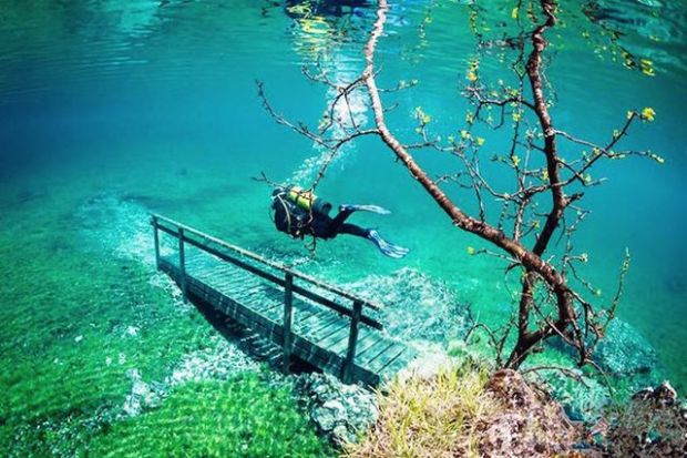 Поразительный подводный парк в Австрии