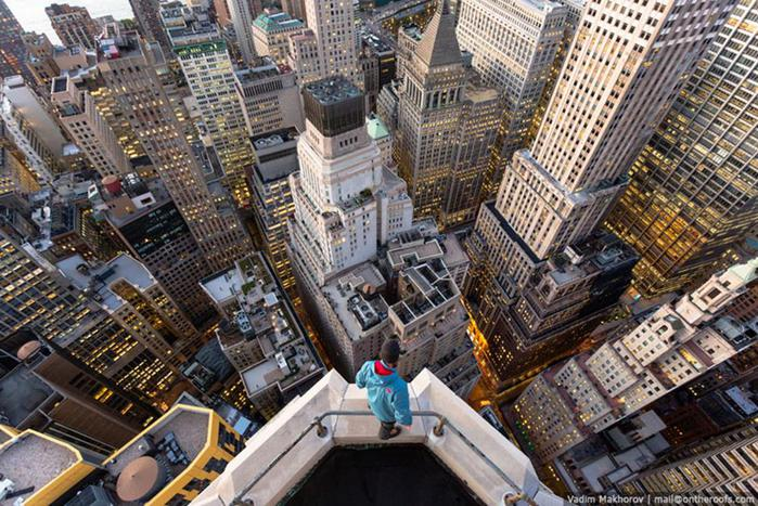 Руферы в Нью-Йорке: как Большое Яблоко выглядит с высоты крыш города